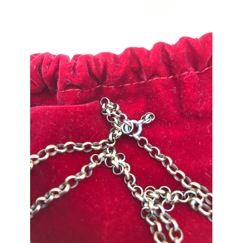 31 - A 15inch 9ct gold Belcher chain (Metal catch) Weighs 15.5grams...