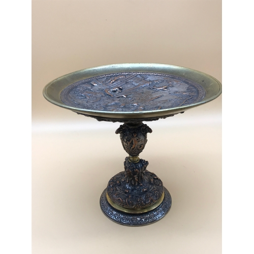 3 - A Victorian Belgian highly detailed tazza done in a renaissance style....
