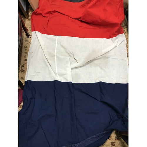 7 - A Large military French flag. Measures 230x140cm...