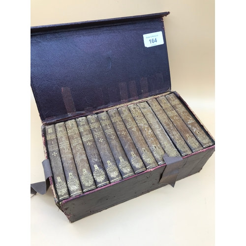 10 - A Complete collection of 13 Shakspeare Handy Volume Edition books, with fitted box. By BRADBURY, AGN...