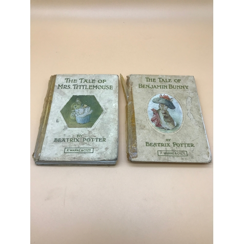 15 - The Tale of Benjamin Bunny & The Tale of Mrs Tittlemouse. Both C1910. Both have issues....