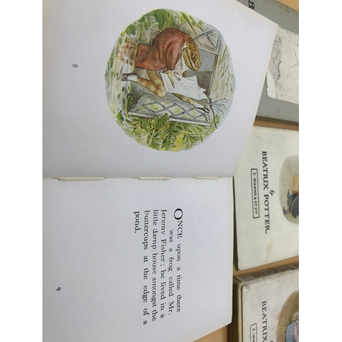 17 - A lot of 10 Beatrix Potter tale books. Includes Jemima Puddle-Duck, Tom Kitten and Peter Rabbit...