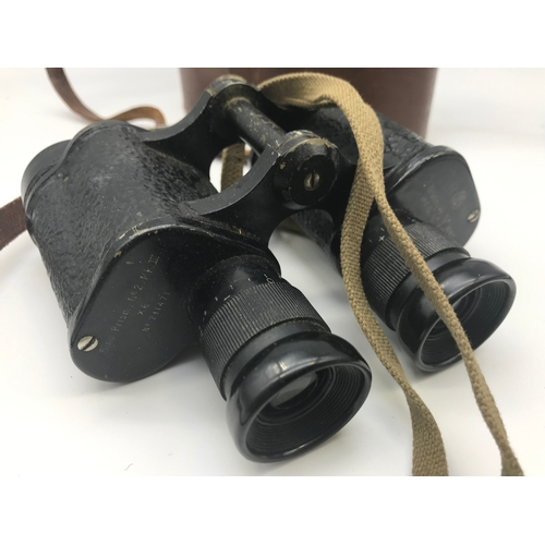 22 - A pair of military bino.prism.NO2 MK3 binoculars and case...