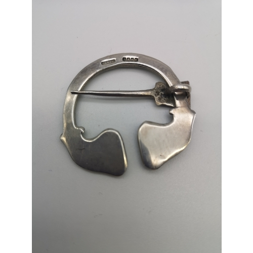 278 - A Glasgow silver penannular cloak pin (Henderson & Horner Bros, 1941)...