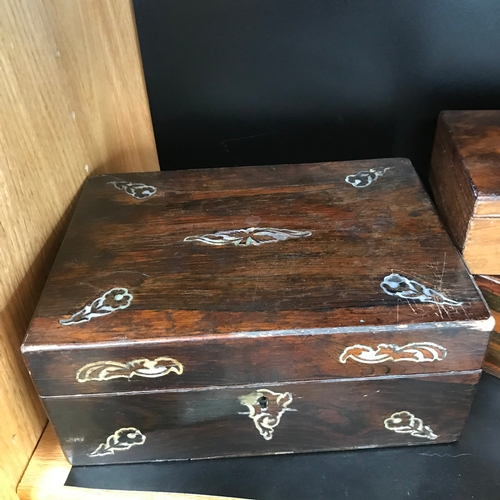 31 - A Lot of 3 antique document boxes....