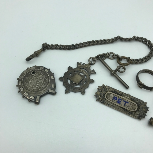10 - A Lot of Victorian and early 1900's silver jewellery and others. Includes Birmingham silver buckle r...