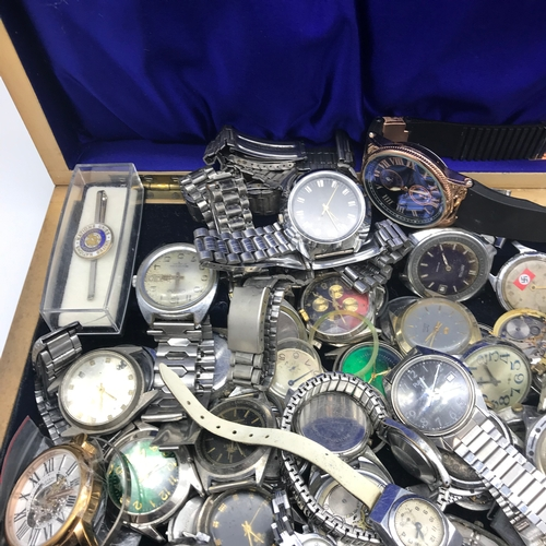 18 - A Box full of vintage watches and spares....