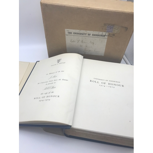 42 - University of Edinburgh Roll of Honour 1914-1918. Comes with original parcel box....