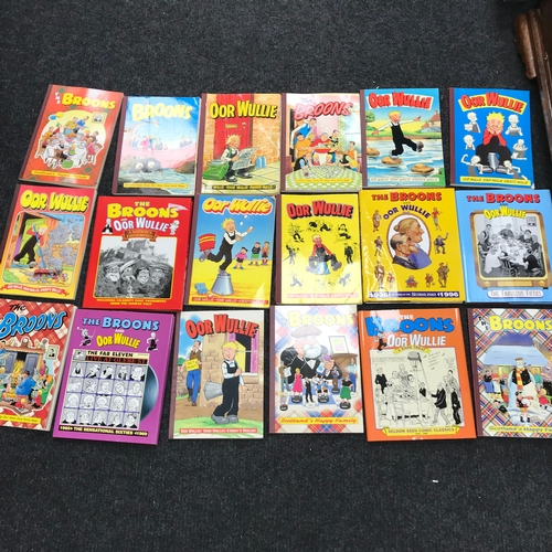 383 - A Lot of Oor Wullie & The Broons annuals...