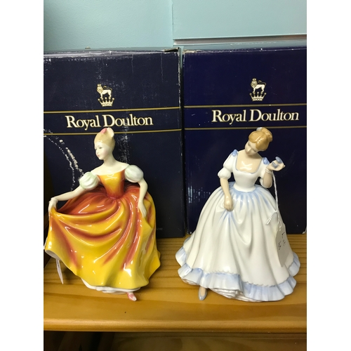 48 - A Lot of two Royal Doulton figurines with boxes. Titled