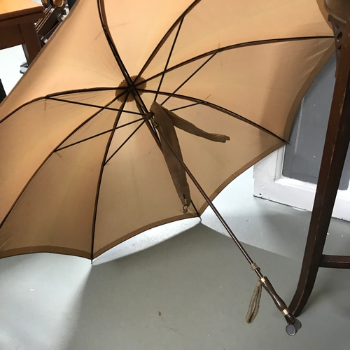 300 - 2 Ladies antique parasols, Makers name on brown one is