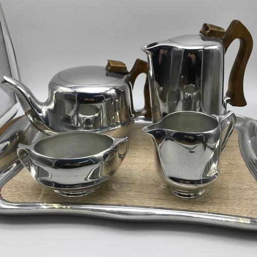 365 - A Vintage Picquot ware tea/coffee service with serving tray....