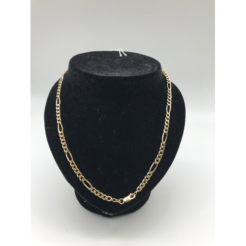18 - A 9ct gold Figaro chain. Weighs 7.65grams...
