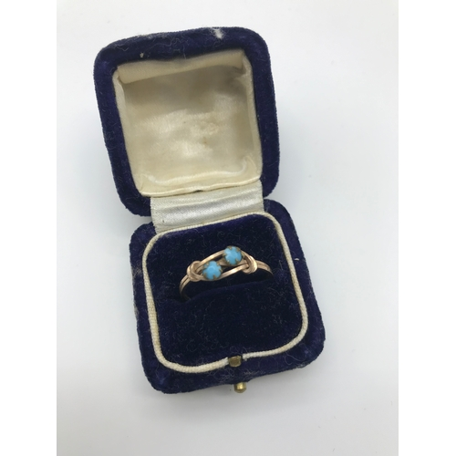 20 - A 9ct gold mens ring set with a clear stone (Band damaged) together with yellow metal and turquoise ...