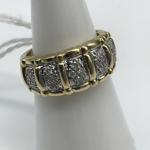 43 - A 14ct gold .25ct diamond ring. Size L...