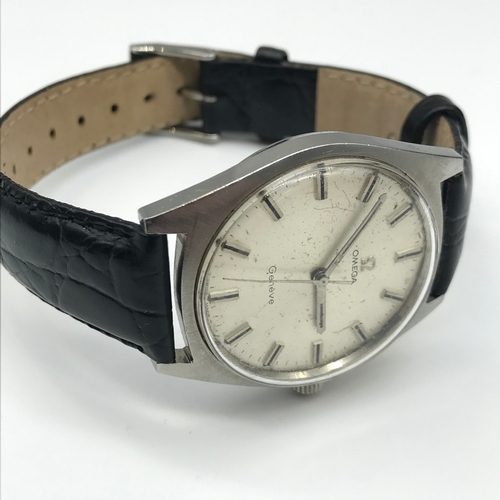 48 - Vintage 1969 Omega Geneve steel cased gents watch. In a Working Condition. Original strap....
