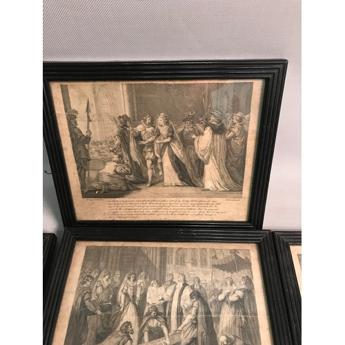 391 - A lot of seven Mary Queen of Scots antique prints by W N.Gardiner.SC...