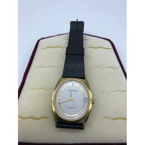 22 - Ladies Vintage Edox Quartz watch, In a working condition...