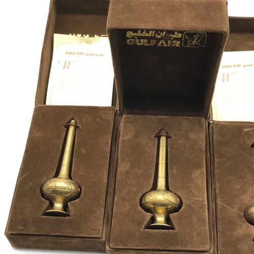 18 - A Lot of 4 Gulf Air rosewater sprinkler and incense burner air line collectables....