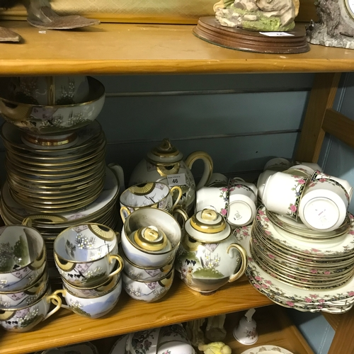 46 - A Large Selection of Japanese China to include Tea and Side Plates Cups, Saucers and Tea Pots. Also ...