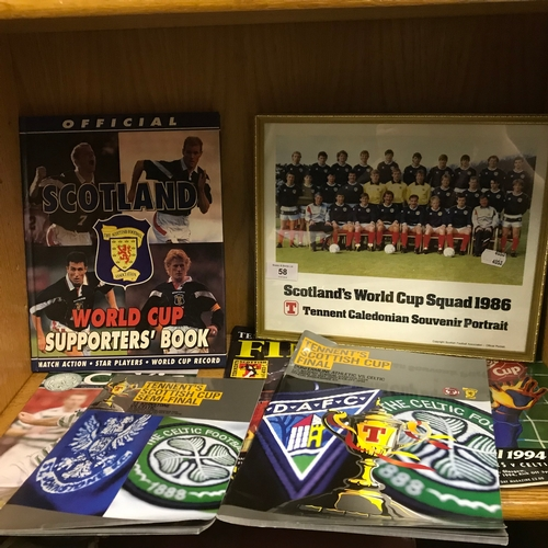 58 - A Collection of Football Memorabilia to include The 1986 Framed Scotland Team....
