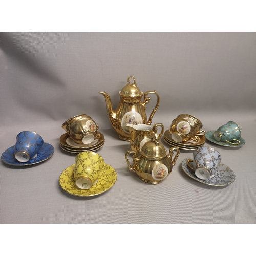 5 - A nine piece Bavaria Schlottenhof tea set, together with an eight piece Czechoslovakian tea set...