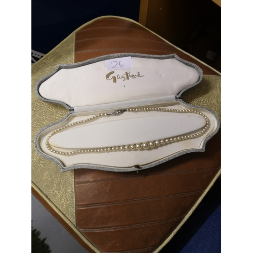 26 - vintage pearl necklace with original box....