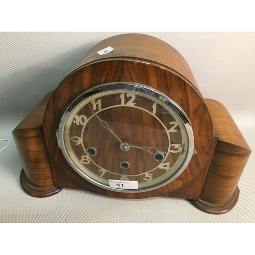 51 - 1920s Westminster chime Fully Functional Mantel Clock...