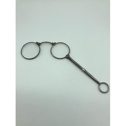 13 - 800 grade silver Pince nez optical glasses...
