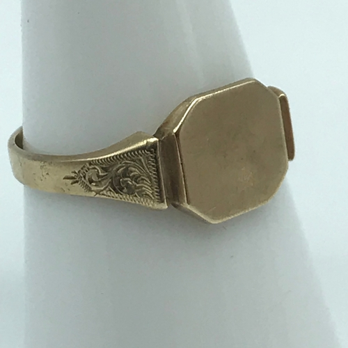 6 - A Birmingham 9ct gold signet ring, Size O1/2. Weighs 2.34grams...