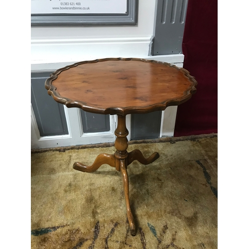 30a - Antique style pedestal flip top table, The top swivels 360degrees, supported on single pedestal and ...