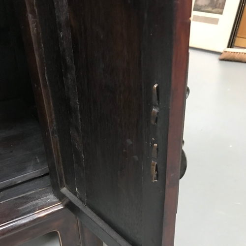 10A - Antique Chinese two drawer, two door cabinet, Measures 82x97x45cm...