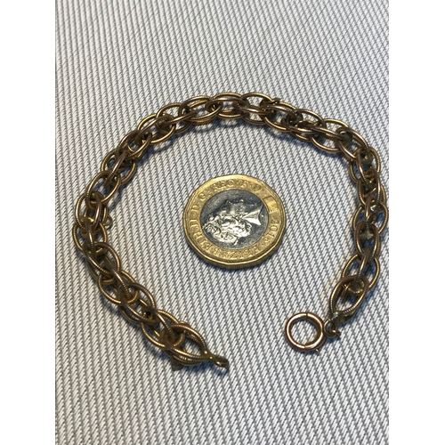 3 - A Tested 14ct gold unusual link bracelet, Weighs 14.58grams...