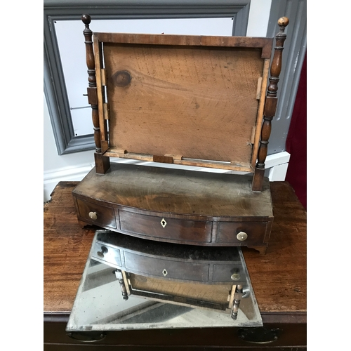 50a - A Regency mirror with fitted drawers in need of attention....