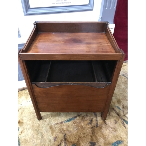 120A - A Georgian butlers/ serving console table unit. Lift out tray to the top, slide down front section, ...