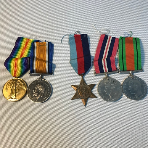 124 - A Set of WW1 Medals presented to 405938.3.A.M. H.H.WINTER. R.A.F. Together with 3 WW2 medals (no nam...