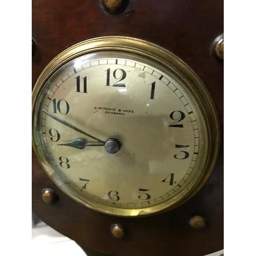 51A - First World War propeller clock by J. Ritchie & Sons (Edinburgh), 147.5cm in height...
