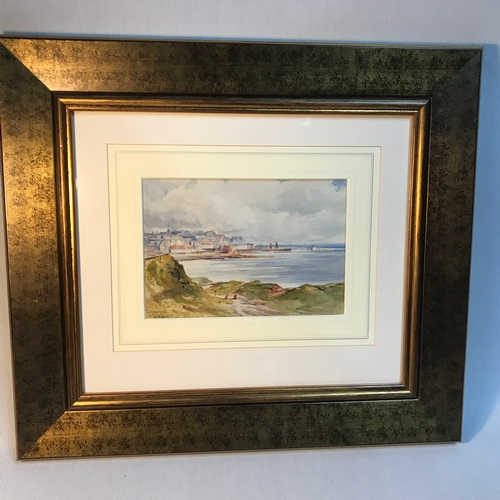 10B - John Blair (1850-1934) Original watercolour titled 'Pittenweem'  Fitted within a gold frame. Art wor...