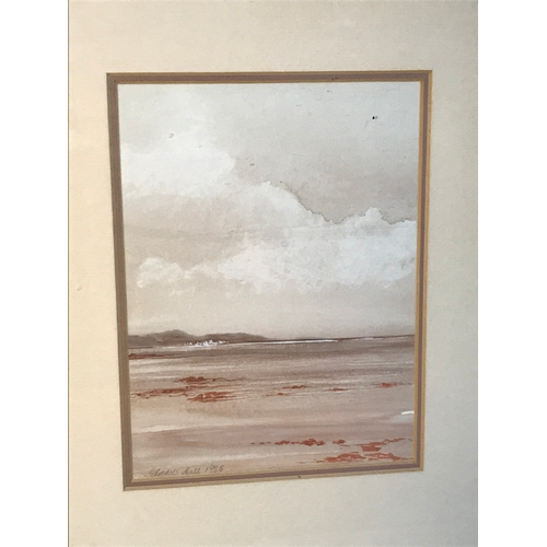 25B - Gladys Hill Original watercolour titled 'Beauly Firth' dated 1985.  Frame Measures 32.5x27.5cm...