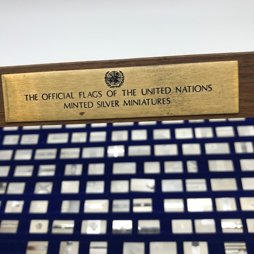 30 - The official flags of the United Nations Minted silver Miniature flags. 146 flags in total. All stam...