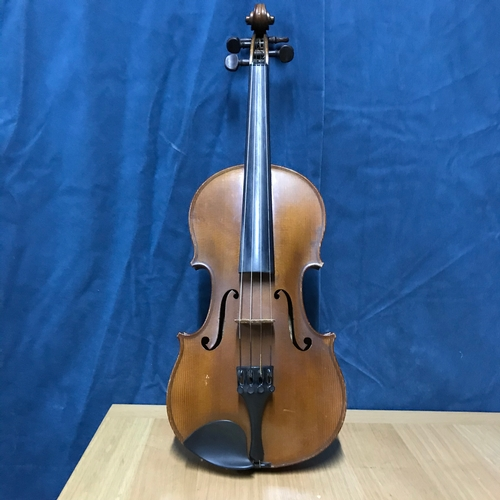 135A - An Antique Violin, two bows and case. Violin is manufactured by The Carrodus Violin Company dated 19...