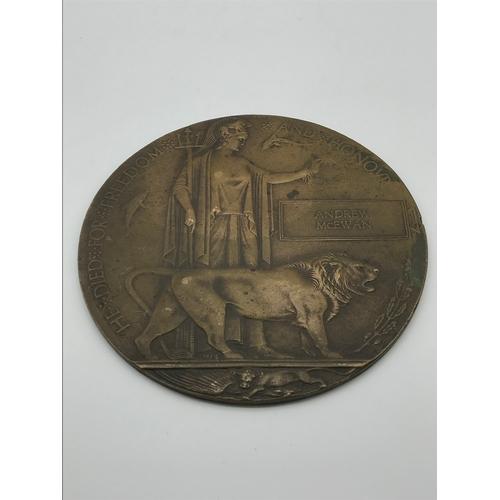 37J - A WW1 Death plaque