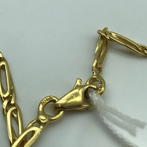 5J - A Heavy 18ct gold necklace, unusual links. Weighs 16.2grams...
