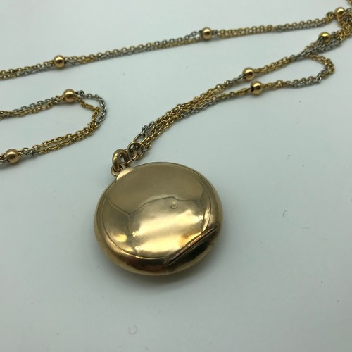 20 - Antique Late Victorian/Early Edwardian 9ct gold two tone necklace, with matching bracelet,  together...