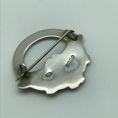 8 - A Glasgow silver Celtic/ Viking design brooch made by Robert Allison [dated 1949]....
