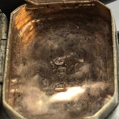 29J - A Georgian Birmingham silver ornate vinaigrette [Maker John Lawrence & Co] [Dated 1814]...