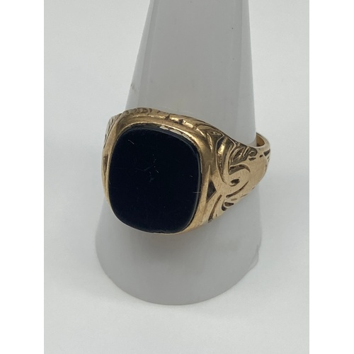 7J - Antique Gent's 9ct gold signet ring. [Weighs 6.89 grams] [Ring size V]...