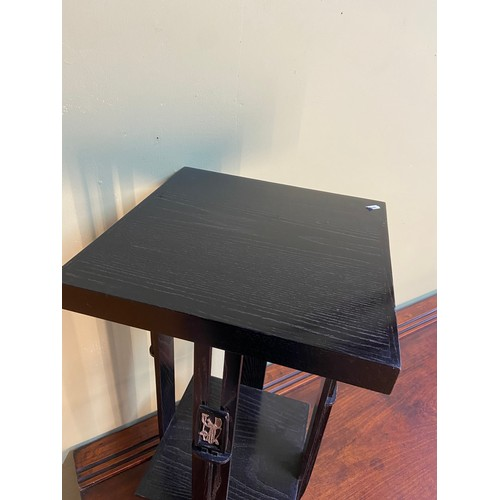 1 - A Vintage Rennie Mackintosh style two tier lamp table. [74.5x39x39cm]...
