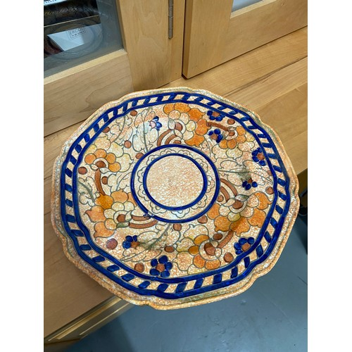 13 - Crown Ducal Charlotte Rhead tublined floral design plate...