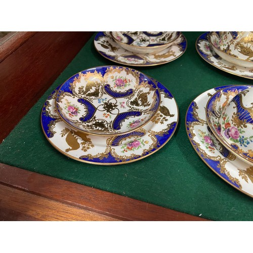 15 - A 19th century Booths Gilt peacock design part tea set [22 pieces]...